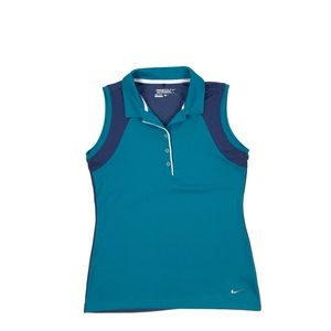 Nike Golf Two Tone Sleeveless Polo